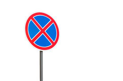 Road sign parking stop Stock Photography