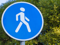Road sign with a pedestrian Royalty Free Stock Images