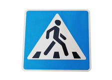 Road sign pedestrian transit Royalty Free Stock Photos