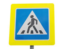 Road sign pedestrian transit Stock Photo