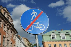 Road Sign pedestrians and Cyclist prohibitted Royalty Free Stock Photos