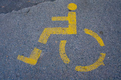 Road sign. For physically challenged Royalty Free Stock Photo