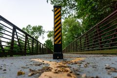 Road sign on pillar for authorized use only royalty free stock photography
