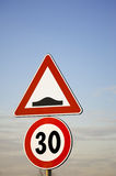 Road Sign With Pole. Royalty Free Stock Photography
