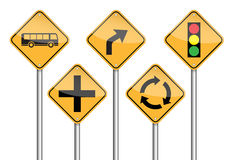 Road sign pole Stock Images