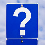 Road Sign: Question Mark royalty free stock photos