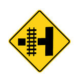 Road sign - railroad crossing Stock Photography