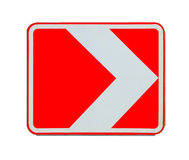 Road sign right turn isolated Royalty Free Stock Images