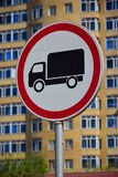 Road sign ROAD CLOSED TO TRUCKS Royalty Free Stock Photo