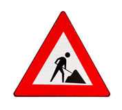 Road sign roadworks Stock Images