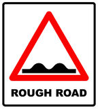 Road, sign, rough icon vector image. Can also be used for traffic signs Royalty Free Stock Photos