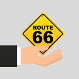 Road sign route 66 icon Royalty Free Stock Photography