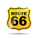Road sign route 66 icon Stock Image