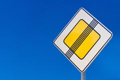 Road sign of safety on roads Royalty Free Stock Photos