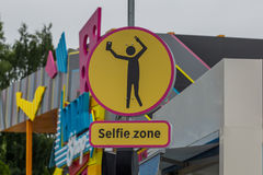 Road sign - selfie zone Stock Photography