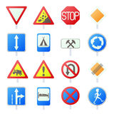 Road Sign Set icons Royalty Free Stock Images