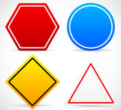 Road Sign Shapes. Circle, Square, Triangle, Hexagon Road Signs. Stock Image