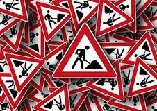 Road Sign, Site, Attention, Note Royalty Free Stock Image