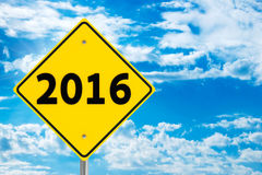 Road sign 2016 Royalty Free Stock Photography