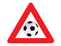 Road sign soccer Royalty Free Stock Photo