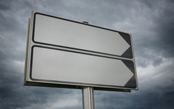Road sign with space for text. Royalty Free Stock Image