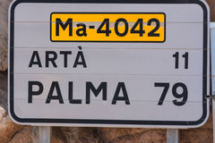 Road sign in Spain. Stock Images