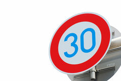 Road sign speed limit Stock Images