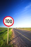 Road sign for speed limit Stock Image