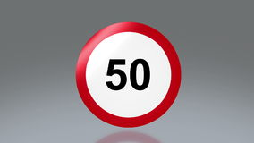 Road sign speed limit Royalty Free Stock Photo