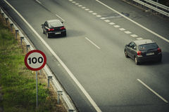 Road sign for speed limit Stock Photography