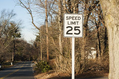 Road sign about speed limit Stock Photography