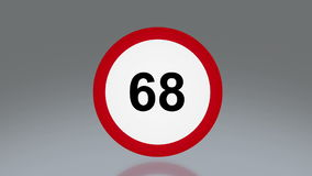 Road sign speed up Stock Photography
