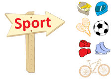 Road sign sport Royalty Free Stock Photos