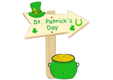 Road sign St. Patrick's Day Royalty Free Stock Photography