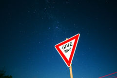 Road sign with stars Stock Image