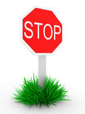 Road sign STOP Royalty Free Stock Photos