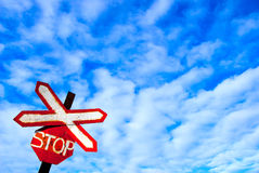 Road sign stop Royalty Free Stock Photo