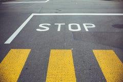 Road sign STOP Stock Photos