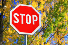 Road sign STOP Stock Image