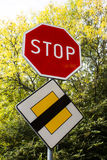 Road sign Stop Royalty Free Stock Images
