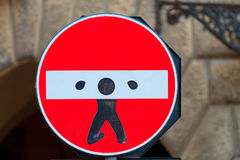 Road sign, street art Royalty Free Stock Photo