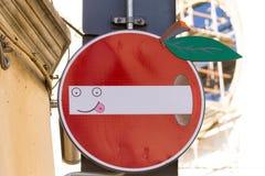 Road sign, street art Royalty Free Stock Photos