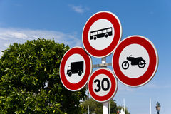 Road Sign on the Street, crossing Royalty Free Stock Images