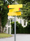 Road sign in street Royalty Free Stock Photography