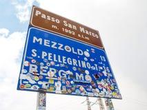 Road sign stride san marco Stock Photos