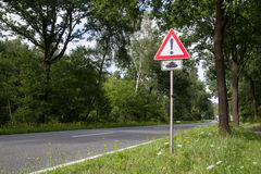 Road Sign Tanks Crossing Royalty Free Stock Photography