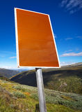Road sign with textspace Royalty Free Stock Photos