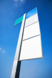Road sign with textspace Royalty Free Stock Images