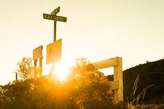 Road sign to Black Canyon rd Stock Photography