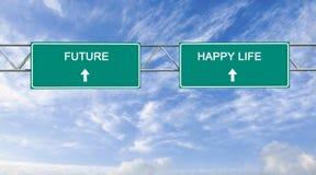 Future and happy life stock photos
